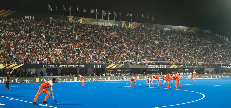BHUBANESWAR (INDIA) - Het Kalinka Stadion tijdens  kwartfinale tussen India en Nederland (1-2) bij het WK Hockey heren.   ANP KOEN SUYK